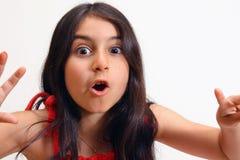 Junges Mädchen im roten Kleid Lizenzfreies Stockfoto