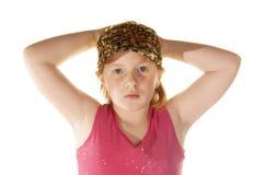Junges Mädchen imist Begriff, genug zu haben Lizenzfreie Stockfotografie