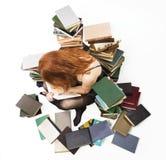 Junges Mädchen mit Büchern Stockfotografie