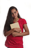 Junges Mädchen mit Buch Stockbilder