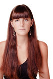 Junges Mädchen mit dem langen Haar Lizenzfreie Stockfotos