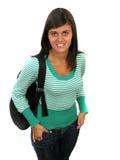 Junges Mädchen mit einem Rucksack Lizenzfreies Stockbild