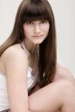 Junges Mädchen mit Freckles lizenzfreie stockbilder