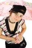 Junges Mädchen mit Regenschirm Lizenzfreies Stockbild