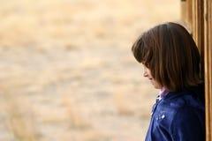 Junges Mädchen-Profil Lizenzfreie Stockbilder