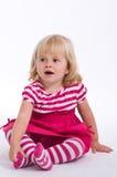Junges Mädchen Sittting Lizenzfreie Stockfotos