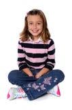 Junges Mädchen-Sitzen lizenzfreie stockfotos