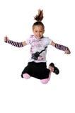 Junges Mädchen-Springen lizenzfreies stockfoto
