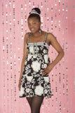 Junges Mädchen-tragendes Party-Kleid Stockfoto