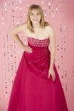 Junges Mädchen-tragendes Party-Kleid Lizenzfreies Stockfoto