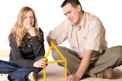 Junges Mädchen und Mann lizenzfreies stockfoto