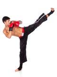 Junges männliches kickboxer Stockbild