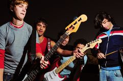 Junges musican Band Stockbilder