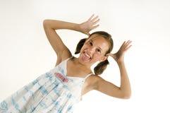 Junges neckendes Mädchen Lizenzfreies Stockfoto