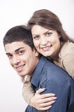 Junges Paarlächeln Lizenzfreies Stockfoto