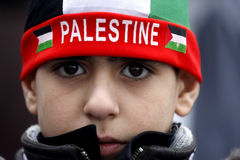 Junges palästinensisches Jungenportrait Stockfoto