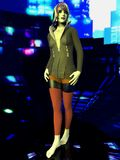 Junge Frau in der Stadt Stockfoto