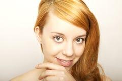 Junges Redheadmädchen Stockfotos