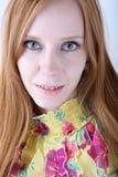 Junges Redheadmädchenportrait Lizenzfreie Stockfotos