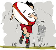 Junges Rugby Lizenzfreies Stockbild