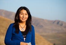 Junges schönes asiatisches Mädchen Lizenzfreies Stockfoto