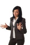 Junges schönes Geschäftsfrauerklären Lizenzfreies Stockfoto