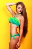 Junges schönes Mädchen in einem Bikini im Studio Lizenzfreie Stockbilder