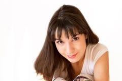 Junges schönes Mädchenportrait Stockfotos