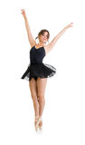 Junges schönes Tänzermädchen lokalisiert Stockfotos