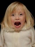 Junges schreiendes Mädchen Lizenzfreies Stockbild