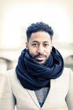 Junges schwarzer Mann ` s Porträt Stockfoto