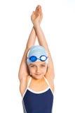Junges Schwimmermädchen Lizenzfreies Stockbild