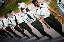 Junges Soldat-Grenzen stockbilder