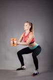 Junges sportliches Mädchen Stockfotos