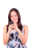 Junges texting Mädchen Stockbilder