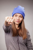 Junges verärgertes Mädchen Lizenzfreie Stockfotos