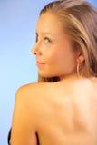 Junges weibliches Portrait der Nahaufnahme Lizenzfreies Stockbild