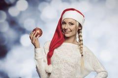 Junges Weihnachtsblondes Mädchen Lizenzfreie Stockfotos