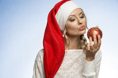 Junges Weihnachtsblondes Mädchen Stockbilder
