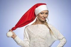 Junges Weihnachtsmädchen Stockfoto