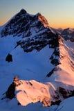 Jungfaru Peak in Berner Oberland. Jungfrau Peak, Berner Oberland, Switzerland - UNESCO Heritage Stock Photos