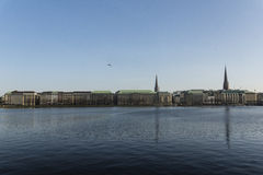 Jungfernstieg and Alster Stock Photos