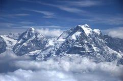 Jungfrau峰顶 免版税库存图片