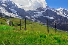 Jungfrau από Kleine Scheidegg Στοκ εικόνες με δικαίωμα ελεύθερης χρήσης