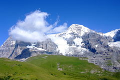 Jungfrau. Picture taken during the train ride to Jungfraujoch in the Swiss Alps Stock Photography
