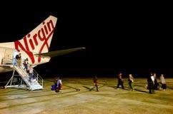 Jungfrau-Australien-Fluglinie Stockfoto