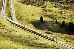 Jungfrau Bahn in Eiger Gletscher Railwaystation Stock Images