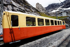 Jungfrau Bahn in Eiger Gletscher Railwaystation Stock Photo