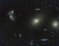 Jungfrau-Block der Galaxien Stockfotos