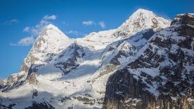 Jungfrau del monch del eiger di lasso di tempo della montagna della Svizzera archivi video
